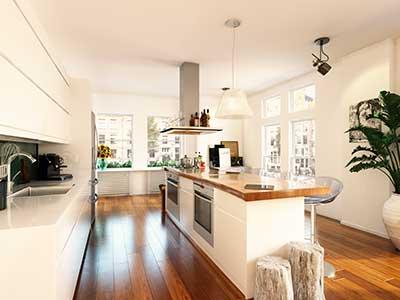 3D illustratie keuken